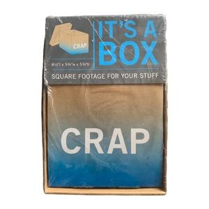 3/$15 It's A Box Crap Label Storage Box NIP